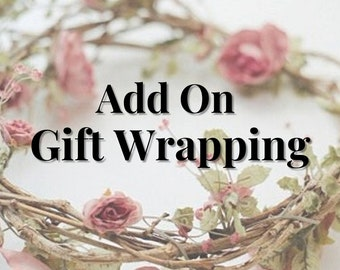 Gift Wrapping Add On and Message On Card Available, Choose From 5 Designer Papers, Eco Friendly Wrapping Paper,