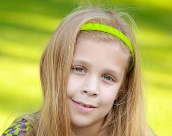 Apple Green Headband - Light Green Headband - Green - Ribbon Woven Headband - Hard Plastic Headband - Child Toddler Teenager Adult Headband