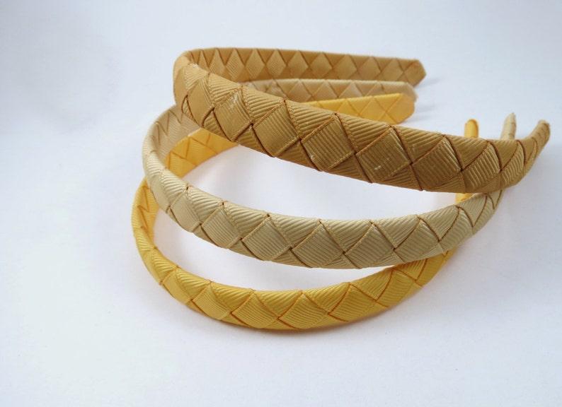 Gold Woven Headbands SET  Toffee Headband  Gold Headband  image 0