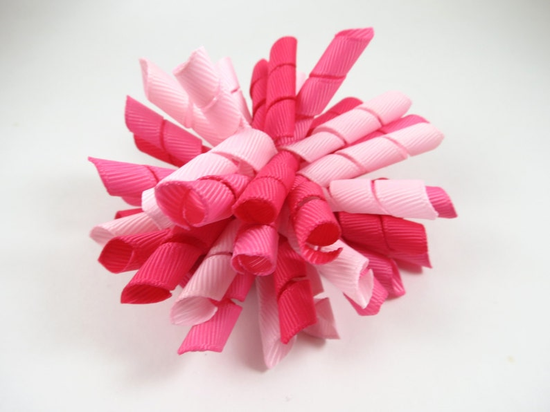 Pink Korker Hair Bow    Pink Hair Bow  Easter Hair Bow  image 0