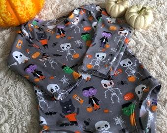 Halloween bodysuit, fall bodysuit, baby costume, girls costume, boys costume, spooky bodysuit, scary bodysuit, spooky season, baby fall,