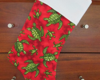 Hawaiian Print Christmas Stocking