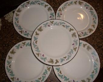 "Vintage Fine China Japan 6701 Grape Grapevine 6.25/"" Bread /& Butter Plate"