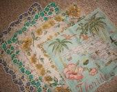 Ladies Vintage Hankies Collection of 4 Beautiful Ladies Handkerchiefs Mid Century Handkies Very Nice 3 New Vintage Hankies