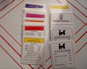 Parker Brothers Monopoly Property Cards Replacements Boardwalk Park Place Railroads