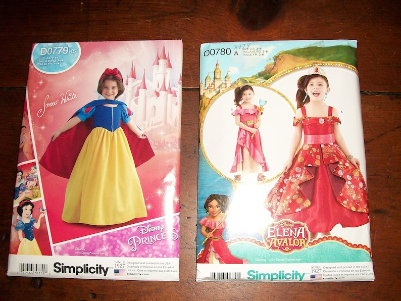 Simplicity Sewing Pattern 8487 Child and Girls Snow White Costume Cosplay