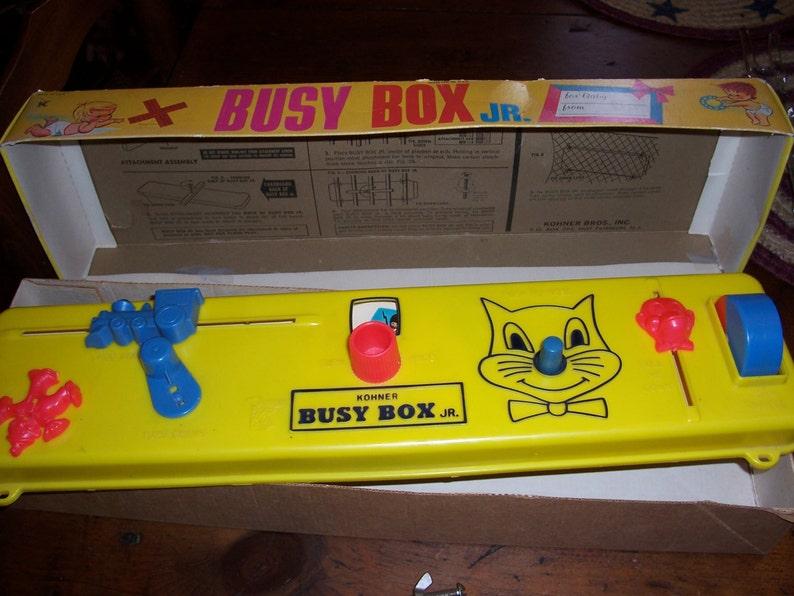 Vintage Kohner Busy Box Jr Crib Baby Toy Original Etsy