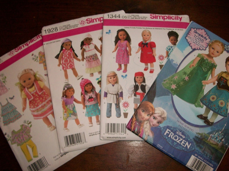 American Girl Doll Clothing Patterns Simplicity 2296 Or Etsy