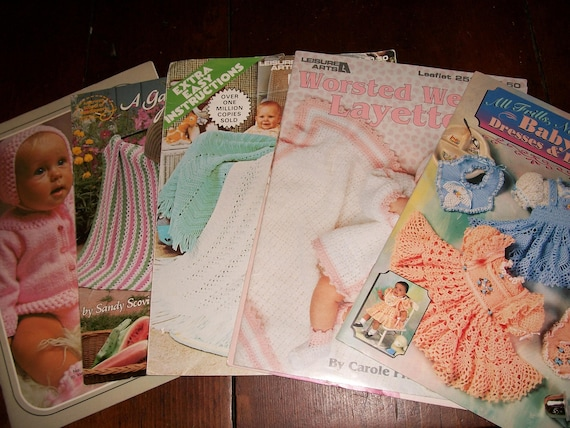 Collection Of 6 Vintage Crochet Knitting Pattern Books For Etsy