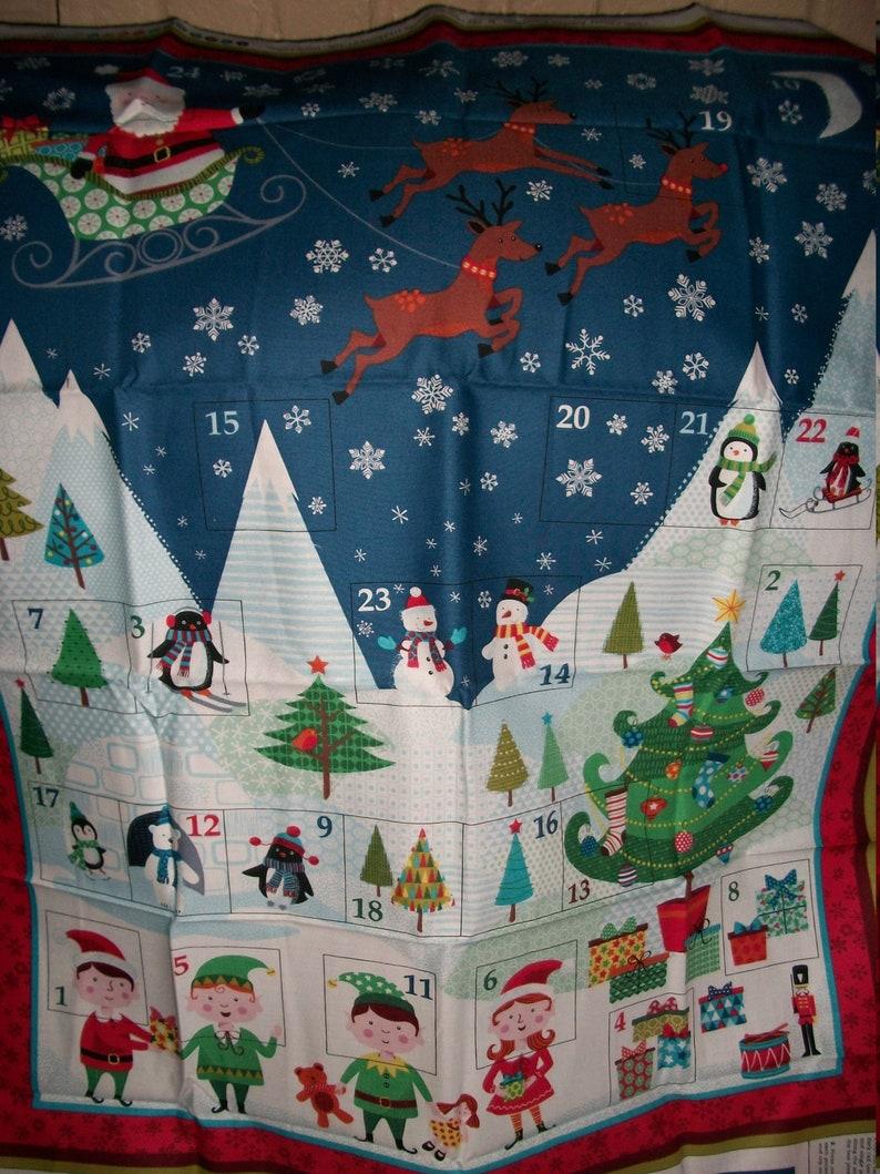 Large Makower UK Frosty Advent Calendar ..Santa/'s North Pole Advent Calendar with Poc kets...New..1586..Henley Studio