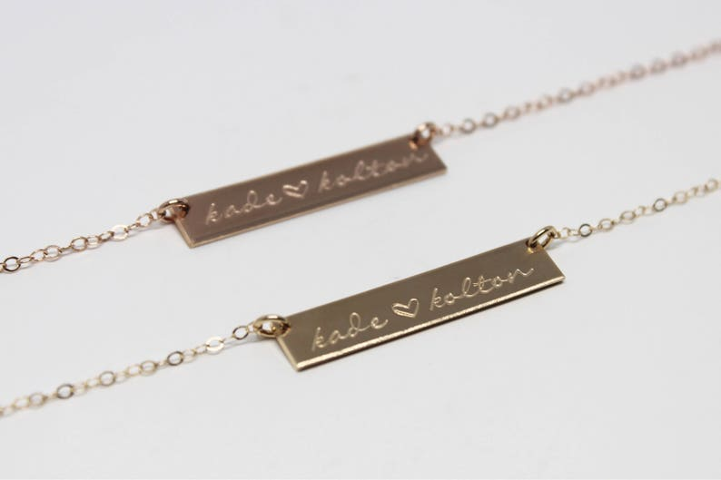 Custom Bar Necklace  Personalized