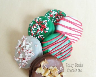 Christmas Chocolate Covered Oreos (12)