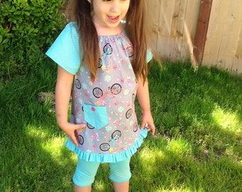 Emma Tunic, Pullover Tunic, Girls Tunic, Toddler Tunic, Peasant Tunic, Little Girl Tunic, Toddler Peasant Top, Girl Peasant Top, Peasant Top
