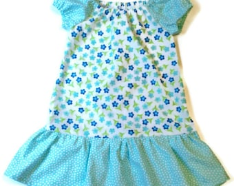 Last One, Size 1, Girl Peasant Dress, Toddler Peasant Dress, Floral Girl Dress, Floral Toddler Dress, Little Girl Dress, Girl Floral Dress