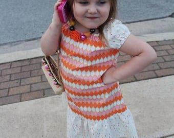 Girl Peasant Dress, Toddler Peasant Dress, Girl Dress, Toddler Dress, Little Girl Dress, Gift for Girls, Handmade Dress