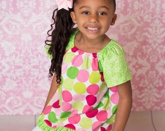 Emma Tunic, Girl Clothing, Toddler Tunic, Peasant Top, Toddler Peasant Top, Little Girl Clothing, Little Girl Tunic, Girl Tunic, PulloverTop