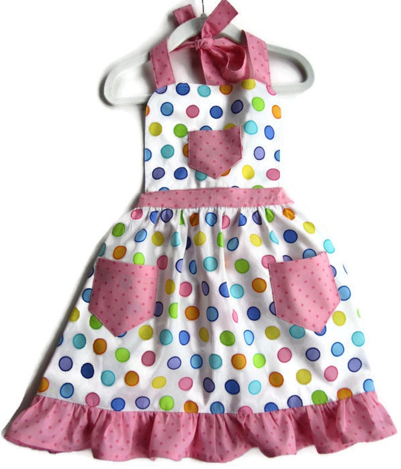 38f740179 Polka Dot Apron Children s Apron Toddler Apron Girl