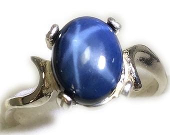 Star Sapphire Ring 925 Sterling - Silver Jewelry,   Gemstone, Elegant Gift Box Rocks2Rings  2SSR5