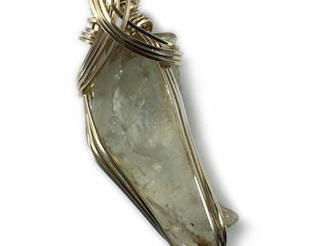 Genuine Libyan Desert Glass Necklace Pendant 14K Gold Filled Ancient Fragment Eastern Libya 3LGG