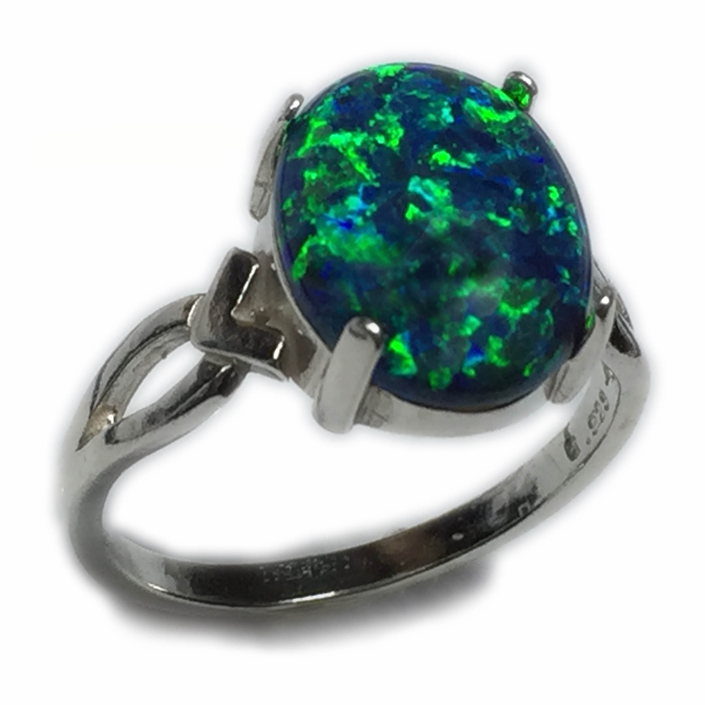 Size 5 12 Black Opal Ring
