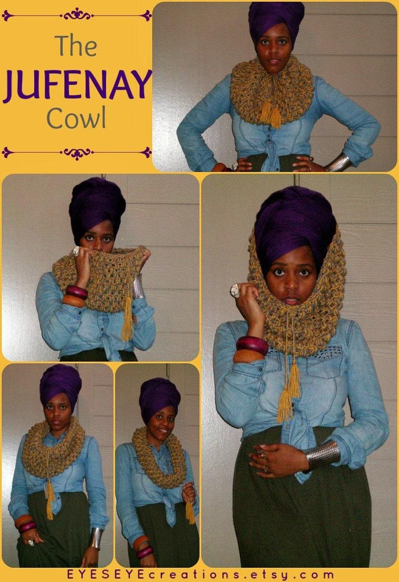The JUFENAY Cowl  Chunky Crochet Cowl Ready to Ship image 0
