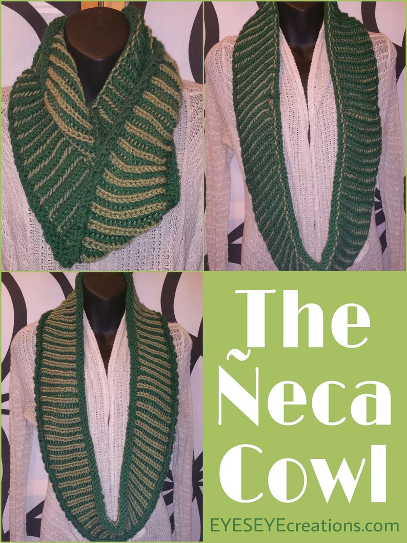 The ÑECA Cowl  Reversible Hand Knit Two-Toned Cowl image 0