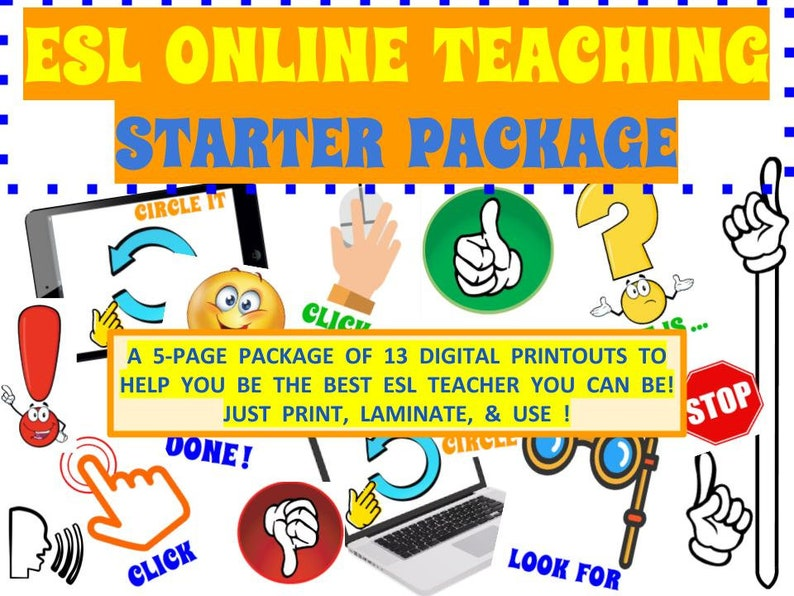 ESL Online Teacher  Props Starter Package VIP Kid Palfish image 0