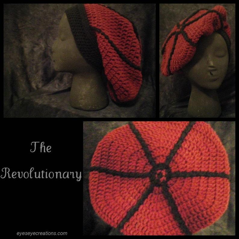 THE REVOLUTIONARY  Crochet dreadlock tam slouch cap rasta image 0