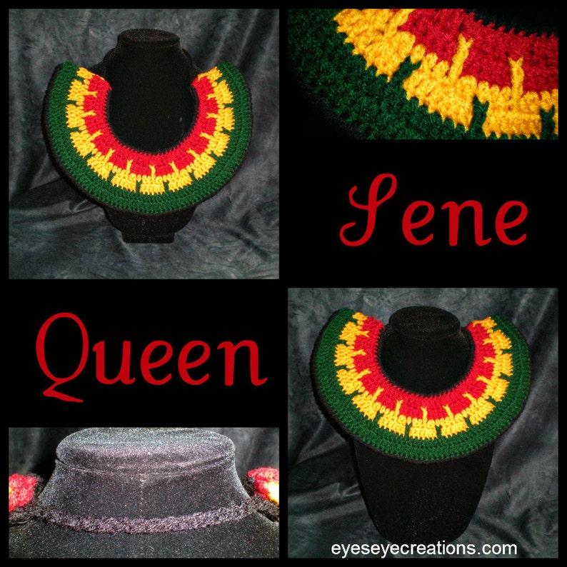QUEEN SENE  Crochet Tribal Necklace Neck warmer african image 0