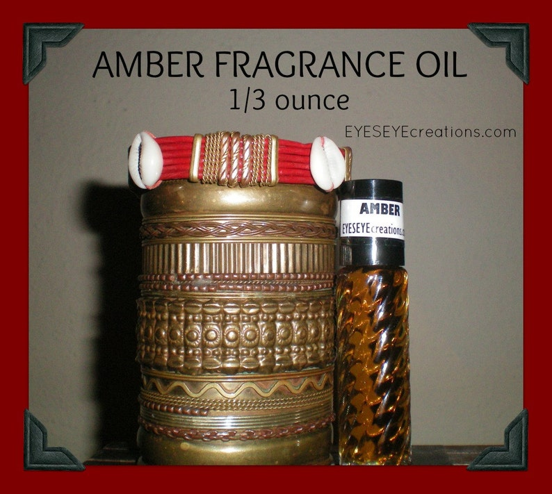 AMBER Fragrance Body Oil 1/3 ounce oz image 0