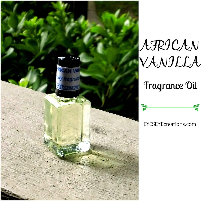 AFRICAN VANILLA Fragrance Body Oil 1/3 1/2 or 1 ounce oz image 0