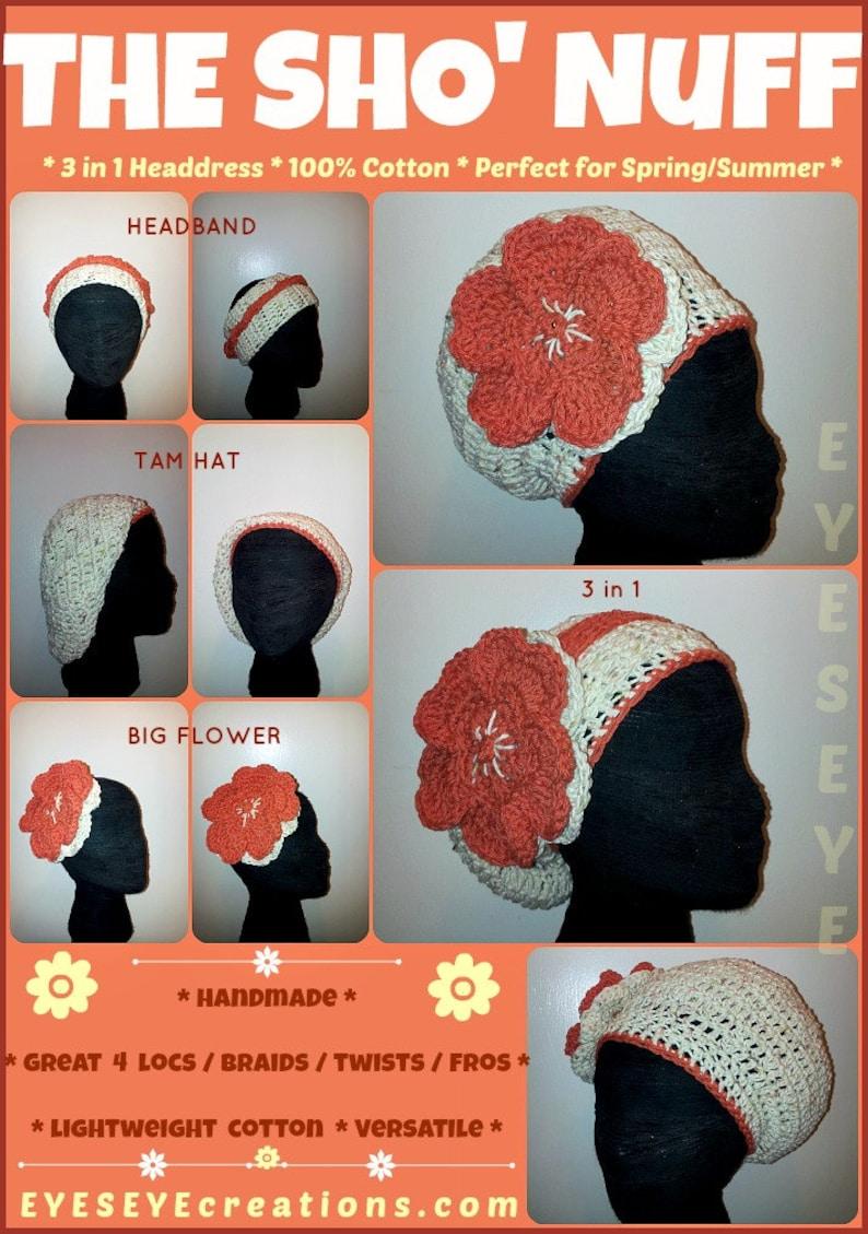 The SHO' NUFF Crochet Headpiece designed for Locs Braids image 0