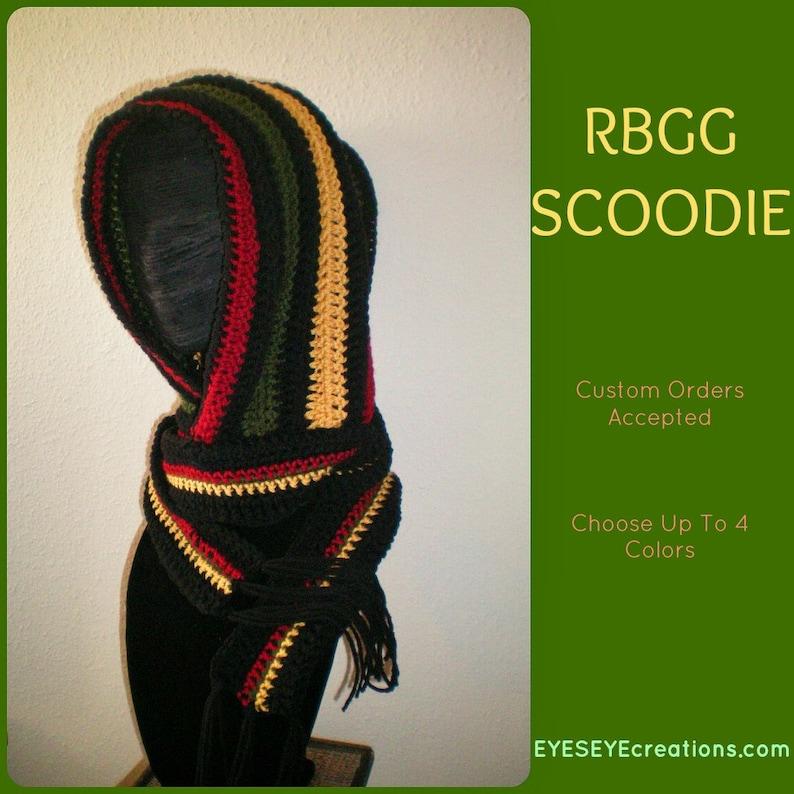 RBGG Scoodie  Hooded Scarf  Hoodie  Rasta  Senegal  image 0