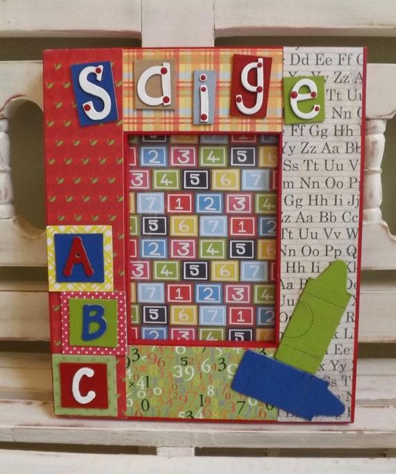 Preescolar jardín de niños ABC School 5 x 7 marco niño niños | Etsy
