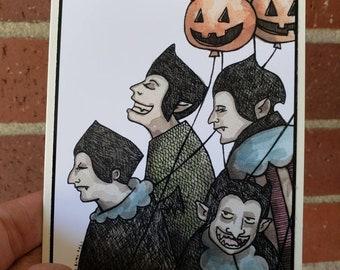Vampire Holiday Greeting Card A2