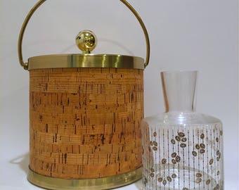 Mid Century Cork Ice Bucket