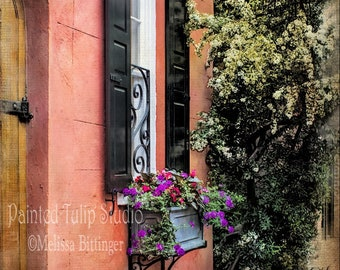 Charleston SC Architecture Photography, Queen Street Print, Door Window Photograph, Fine Art Print or Canvas, Home Decor, Wall Art