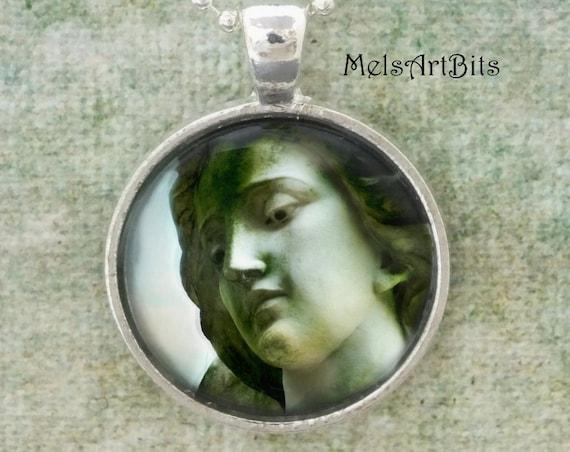 St. Michael Archangel Guardian Angel Inspirational Faith Religious, Grief Mourning, Fine Art Photography Pendant Necklace