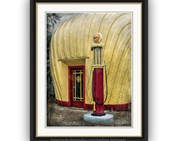 Vintage Shell Filling Station, Historic Landmark Winston-Salem NC