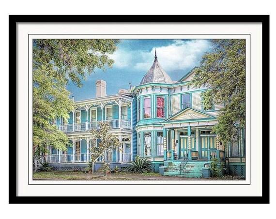 Charming Savannah Georgia Historic Architecture Blue Row Victorian Homes