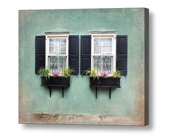 Charleston Window Boxes Teal