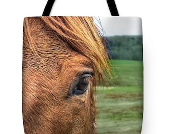 Equestrian, Equine Horse Lover's Canvas Tote Bag, Book Bag, School Bag, Reusable Shopping Bag, Farmer's Market Tote bag