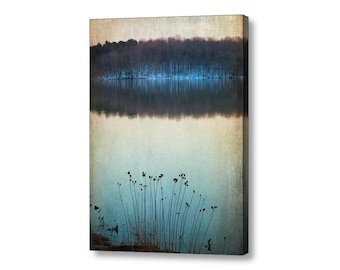 Landscape Winter Nature Lake Forest Woodland Rustic Peaceful Zen Flowers Fine Art Photography Large Giclee Gallery Wrap Canvas