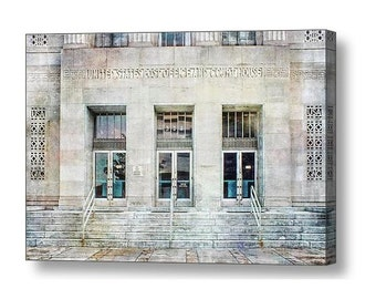 Historical Art Deco Old Post Office and Courthouse Federal Building Architecture Fine Art Photography Print or Gallery Canvas Wrap Giclee