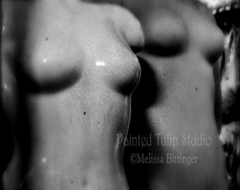 Mannequin Torsos Black and White Still Life, Moody Dark Surreal Urban Decor Fine Art Photography Print or Gallery Canvas Wrap Giclee