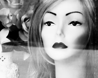 Black and White Fashion Vogue Mannequin Still Life Store Display Window Feminine Fine Art Photography Print or Gallery Canvas Wrap Giclee