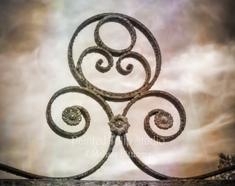 Rustic Wrought Iron Scroll