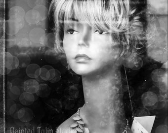Black and White  or Color Fashion Vogue Mannequin Still Life Vintage Store Window Feminine Fine Art Photography Print or Gallery Canvas Wrap