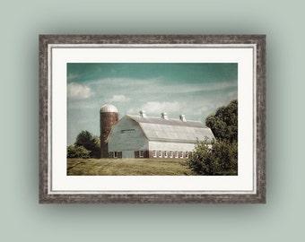 Weathered Barn and Silo Farmhouse Nostalgic Country Farmhouse Rustic Wall Decor Fine Art Photography Print