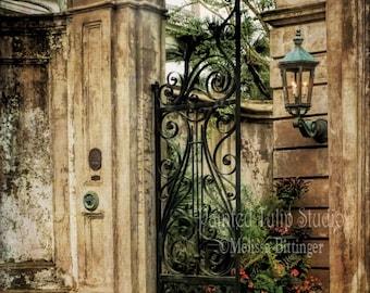 Charleston South Carolina Historic Architecture Legare Street Italian Renaissance Revival Columns Iron Decorative Gate Fine Art Photo Print